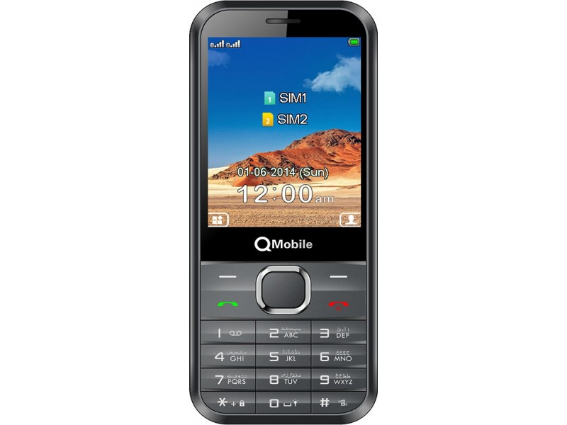 "QMobile Feature Phone R750 – Dual SIM – 2.4"" – VGA Camera – Black (Brand Warranty)"