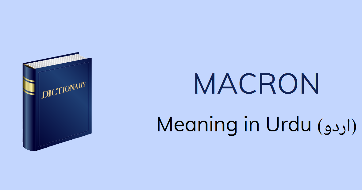 Macron Meaning In Urdu Macron Definition English To Urdu