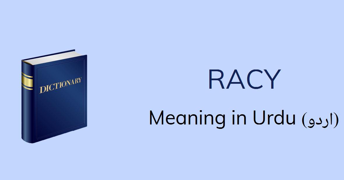 Racy Meaning In Urdu Racy Definition English To Urdu