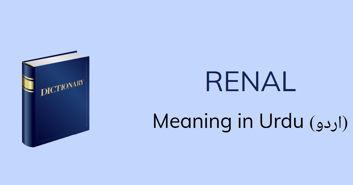 Renal Meaning In Urdu Renal Definition English To Urdu