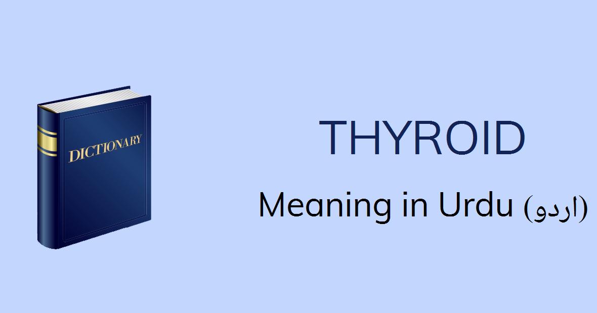 Thyroid Meaning In Urdu Gala Ka Ghadoad Sa Mutalik Thyroid