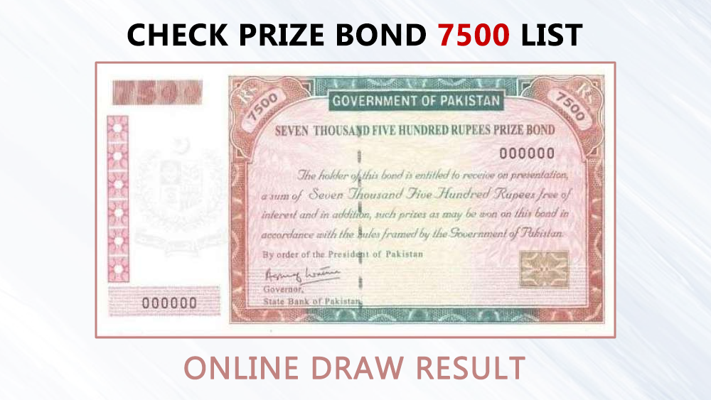 prize bond draw rs 750 pakistan