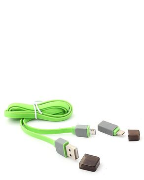 USB 2 In 1 Data Cable - Green