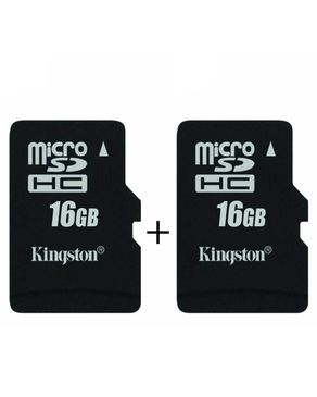 Pack of 2 - 16 GB Memory Card