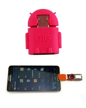 OTG Micro USB Adapter - Red