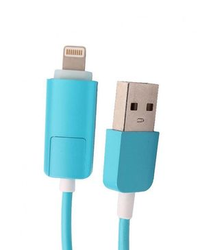 2 In 1 LED Data Cable - Blue