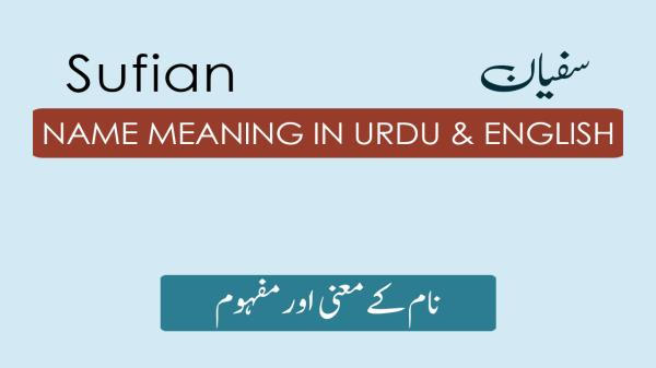 Sufian Name Meaning in Urdu - سفیان Muslim Boy Name Meaning
