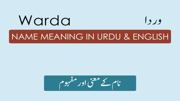 Warda Name Meaning in Urdu - وردا Muslim Girl Name Meaning