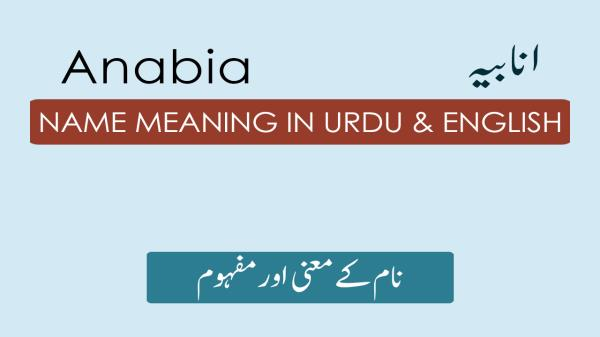 Anabia Name Meaning in Urdu - انابیہ Muslim Girl Name Meaning