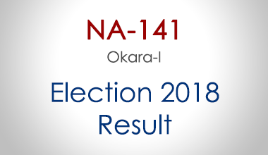 NA-141-Okara-Punjab-Election-Result-2018-PMLN-PTI-PPP-MQM-Candidate-Votes-Live-Update
