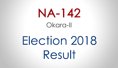 NA-142-Okara-Punjab-Election-Result-2018-PMLN-PTI-PPP-MQM-Candidate-Votes-Live-Update