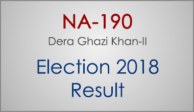 NA-190-Dera-Ghazi-Khan-Punjab-Election-Result-2018-PMLN-PTI-PPP-MQM-Candidate-Votes-Live-Update