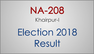 NA-208-Khairpur-Sindh-Election-Result-2018-PMLN-PTI-PPP-MQM-Candidate-Votes-Live-Update