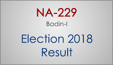 NA-229-Badin-Sindh-Election-Result-2018-PMLN-PTI-PPP-MQM-Candidate-Votes-Live-Update