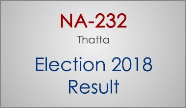 NA-232-Thatta-Sindh-Election-Result-2018-PMLN-PTI-PPP-MQM-Candidate-Votes-Live-Update