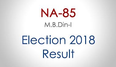 NA-85-Mandi-Bahauddin-Punjab-Election-Result-2018-PMLN-PTI-PPP-MQM-Candidate-Votes-Live-Update