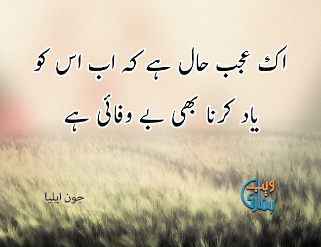 John Elia Poetry In Urdu