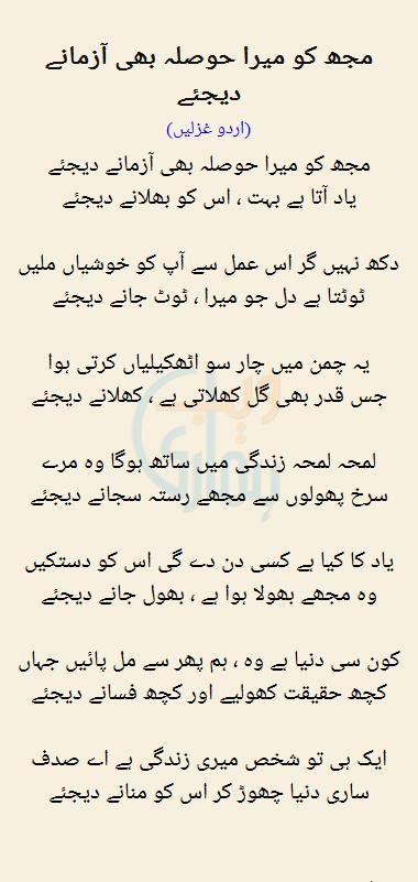 Mujh Ko Mera Hosla Bhi Azmaane Dijiye