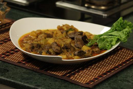 Kaleji Sabzi Wali Recipe by Chef Zakir