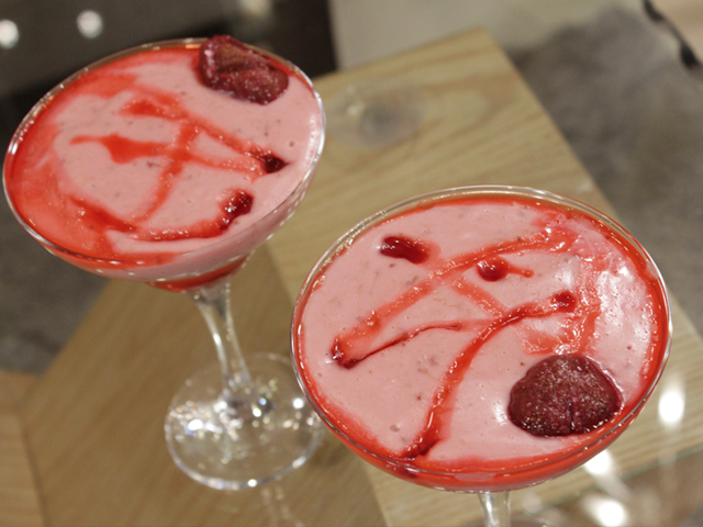 Eggless Strawberry Mousse Recipe by Gulzar Hussain