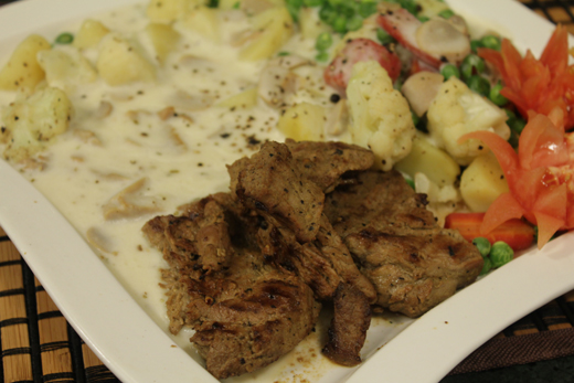 Beef Steaks With White Sauce Recipe by Rida Aftab