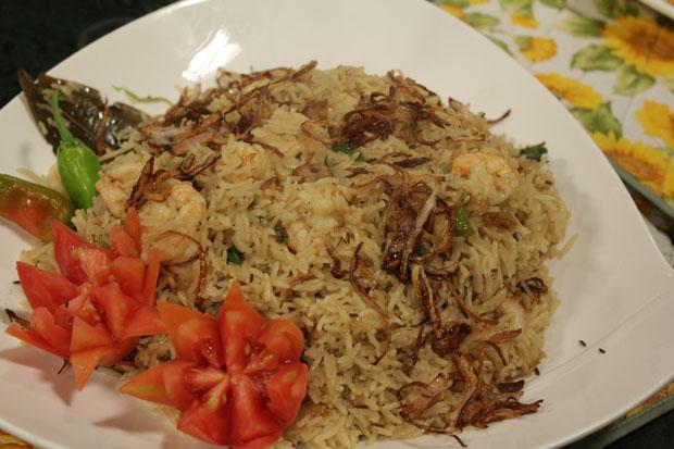 Prawn Pulao Recipe by Rida Aftab
