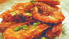 Fried Prawns with Hot Sauce