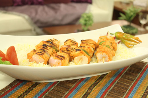 Tandoori Chicken Kababs With Saffron Rice Recipe by Shireen Anwar