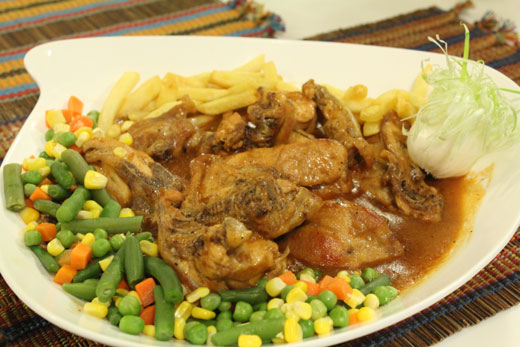 Roast Chicken With Brown Sauce Recipe by Shireen Anwar