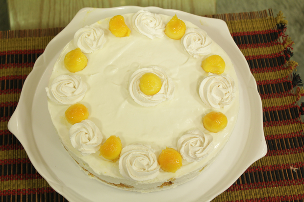 Mango Cheese Cake Gateau Recipe by Shireen Anwar