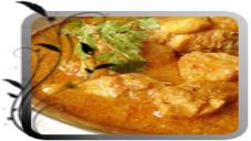 Prawn Shaslik With Apple Curry Sauce