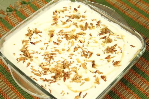 Apple Pudding Recipe by Zubaida Tariq