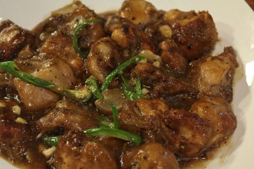 Chicken In Garlic And Black Pepper Sauce Recipe By Zubaida Tariq