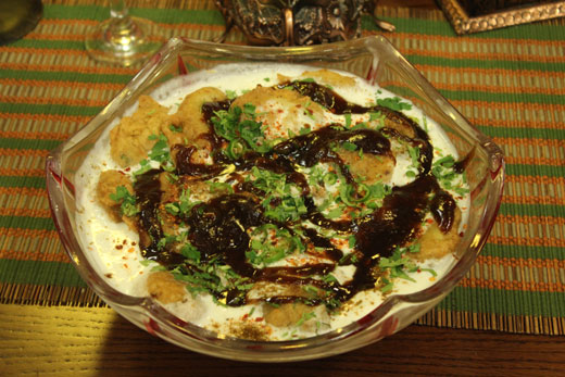 Aloo Pakora Chaat Recipe by Zubaida Tariq