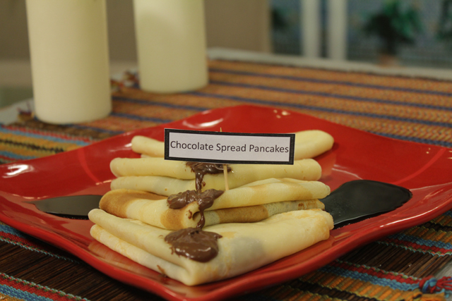 Chocolate Spread Pancakes recipe by Zubaida Tariq. This delightful Ramadan Recipes recipe of Chocolate Spread Pancakes can be ready in approximately 30 Minutes and good to serve around 2-4 People. Follow all the steps recommended by Chef to get a perfect dish.
