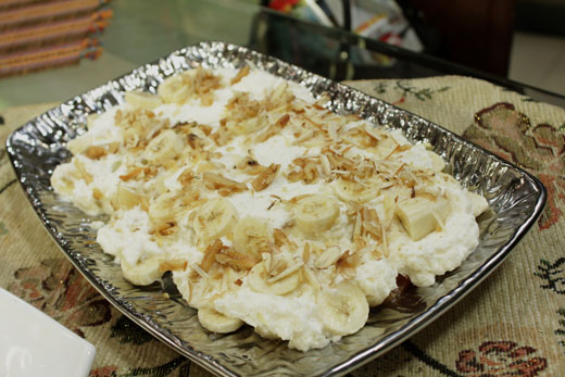 Pineapple Banana And Date Dessert recipe by Zubaida Tariq. This delightful Latest recipe of Pineapple Banana And Date Dessert can be ready in approximately 30 Minutes and good to serve around 2-4 People. Follow all the steps recommended by Chef to get a perfect dish.
