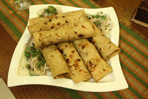 Reshmi Kabab Chutney Roll Recipe by Zubaida Tariq