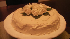 White Velvet Wedding Cake