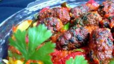 Afghani Kebab With Tomato Gravy