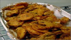 Eggplant and Coconut Pakoray.