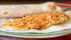 Burritos with chicken and Rice