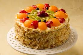 فروٹ کسٹرڈ کیک