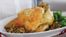 Roast Chicken with Pistachio & Cranberry Stuffing