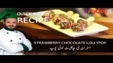 Quick Strawberry Chocolate Lollipop Recipe