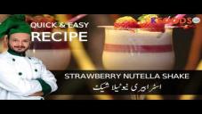 Quick Strawberry Nutella Milkshake