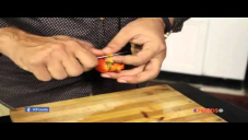 Tomato Carving For Salad Decoration