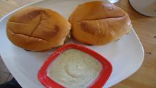 Bun kabab Karachi walay with Chutney Raita