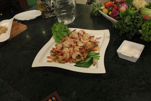 Toasted Prawns Vegetable Recipe by Chef Zakir