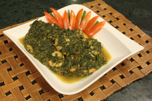 Jheenga Palak Recipe by Chef Zakir